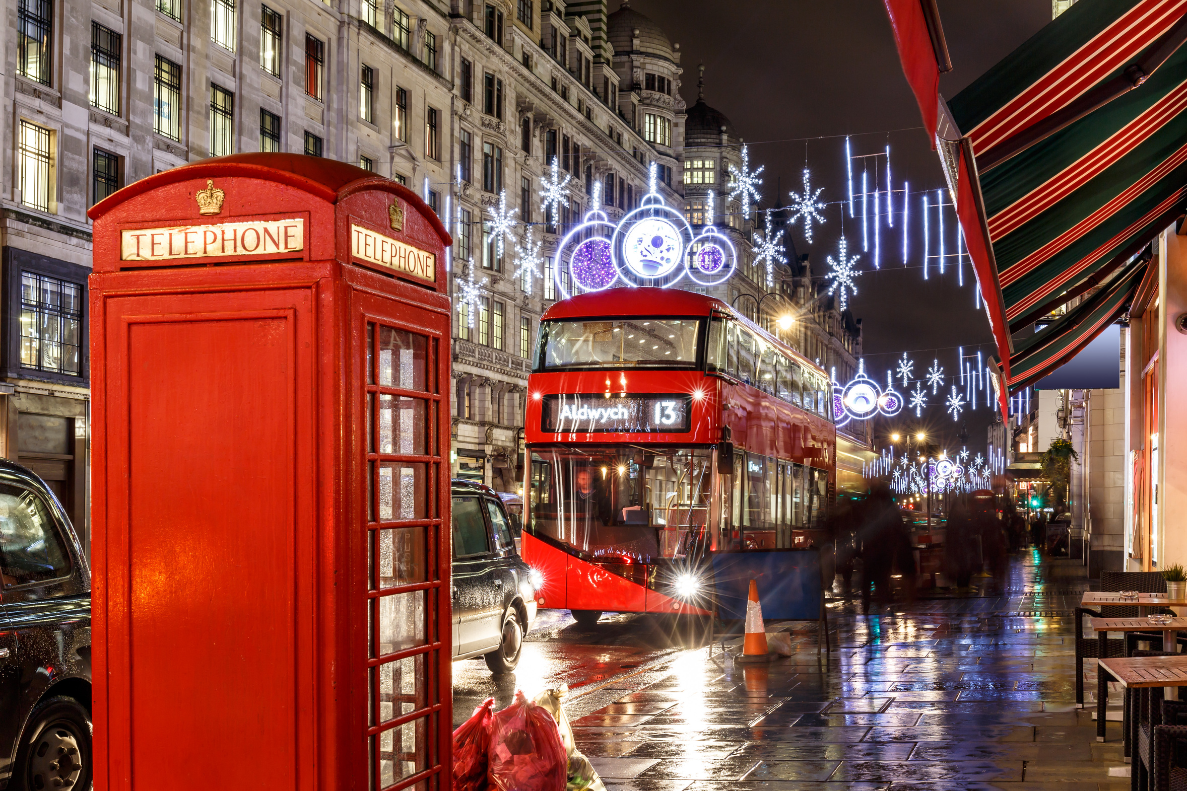 London Open Top Christmas Lights Evening Tour